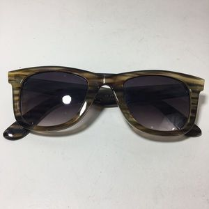 16ec828e739f3 Cynthia Rowley Striped Square green sunglasses